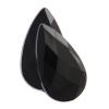 Acrylic 21x12mm Pear Shape Black